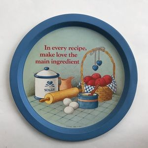 JSNY • Vintage Tin Country Kitchen Decor Plate